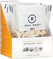 Real Made Overnight Oats | No Sugar Added | Certified Organic Non - GMO | 100% Plant Based Ingredients, Great
