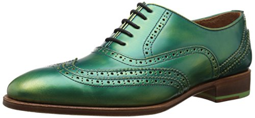 John Fluevog Men's Toledo Oxford, Green, 13 M US
