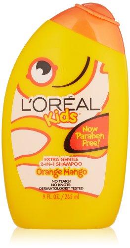 L'Oréal Kids orange Mango Smoothie 2-en-1 Shampooing pour service supplémentaire, 9,0 Fluid Ounce
