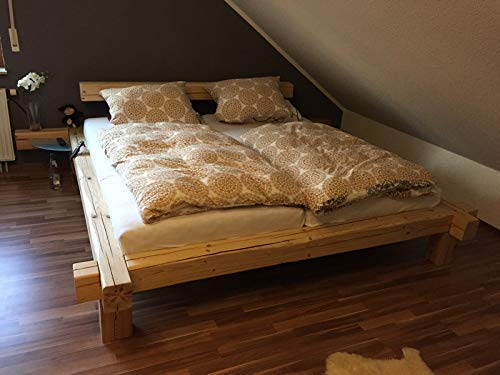 Bett Aus Altholz Balkenbett Massiv Rom Schlafzimmermobel Amazon