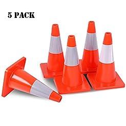 GOPLUS 5PCS Traffic Cones 18