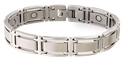 (Sabona Executive Symmetry Silver Magnetic Bracelet - Medium)