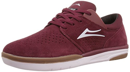 Lakai Mens Skateboard Shoe - Lakai Men's Fremont Skate Shoe, Burgundy Suede, 10.5 M US