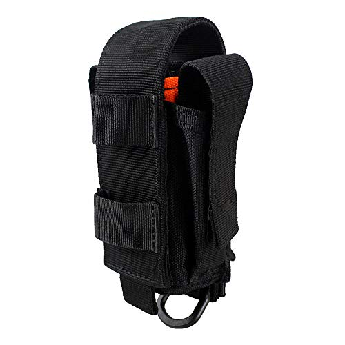 Depring Tool Holster Sheath Universal Multi Pockets Tool Organizer Heavy Duty Construction MOLLE Pouch (Black)