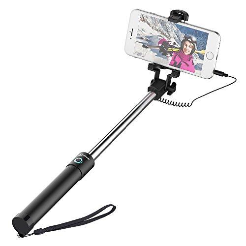 JETech Selfie Stick Cable Control (No Battery No Bluetooth) Self-portrait Monopod Pole
