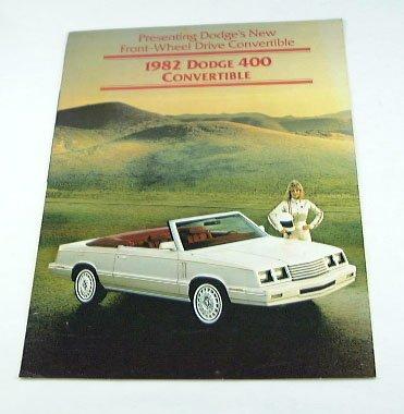 1982 82 DODGE 400 CONVERTIBLE BROCHURE