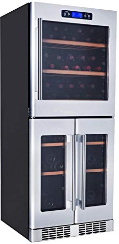 - Kucht K430AVH33 121-Bottle Triple Zone Wine Cooler Built-In with Compressor, Stainless Steel