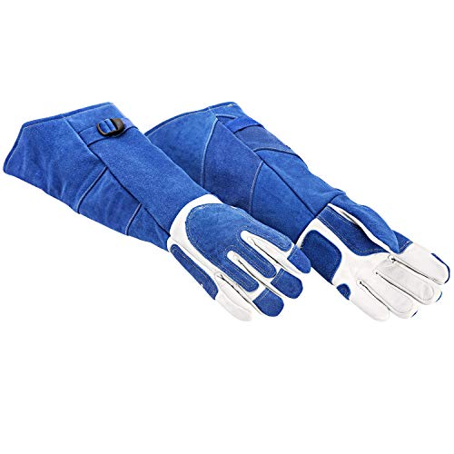 "EULANGDE Arc Armor Heavy Duty MIG/Stick Welding Glove,21"" Long Cuff cowhide Specialty Welders Gloves M L XL (Medium)"