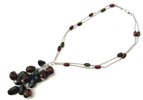 Earthy - Tagua Nut & African Jade Necklace