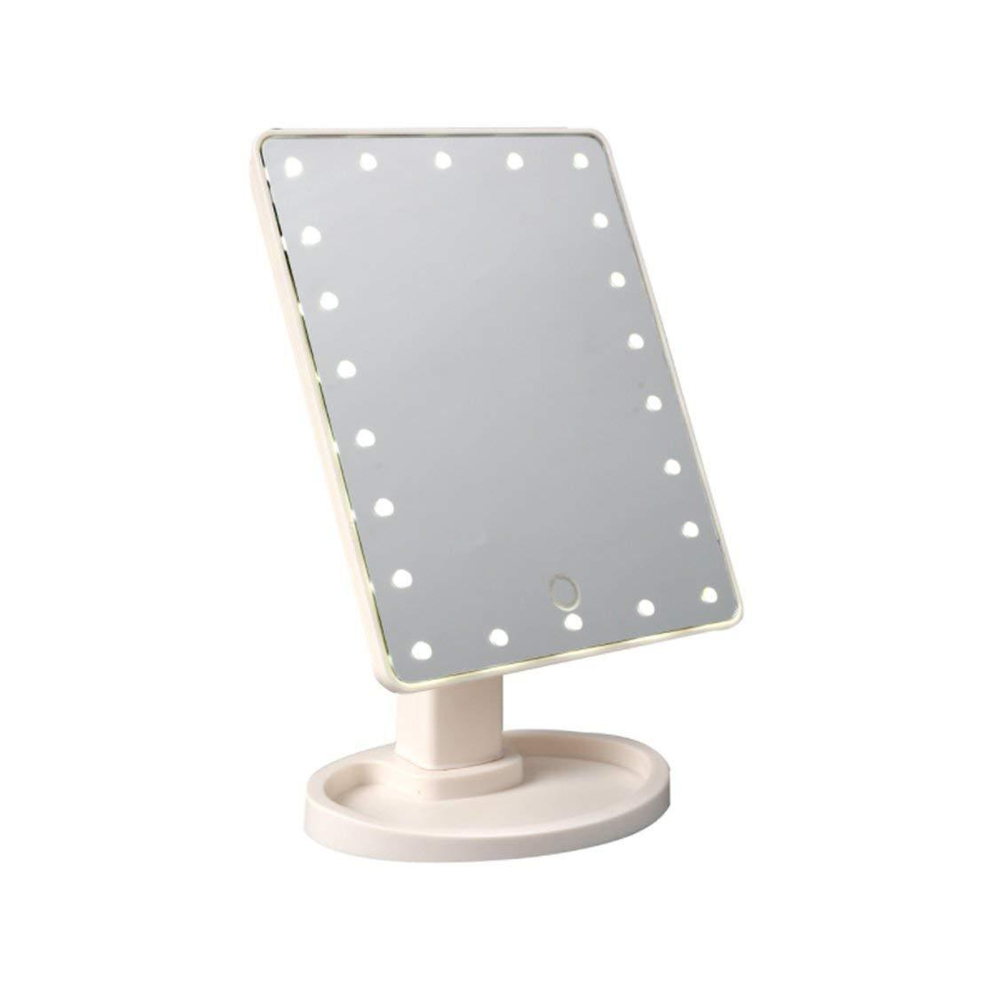 LouiseEvel215 Espejo de Maquillaje con luz LED Espejo de vanidad ...