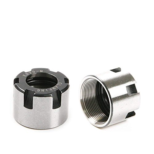 ZXHAO 2Pcs Collet Clamping Nuts for CNC Milling Chuck Holder Lathe ER20 M