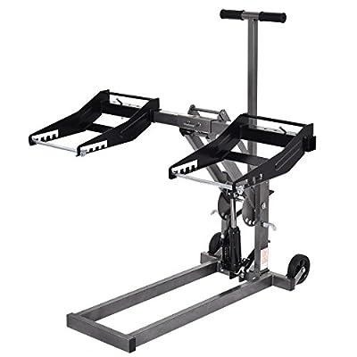 "Floor Jack Hydraulics Foot Pump High Lift Riding Lawn Mower ATV 25"" High 300lb Capacity Heavy Duty Construction - House Deals"