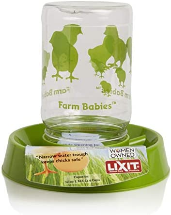 Lixit Feeder/Waterer for Young Chicks, 32 Oz