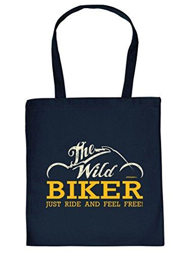 THE Wild BIKER -Tote Bag Henkeltasche Beutel mit Aufdruck. Tragetasche, Must-have, Stofftasche. Geschenk