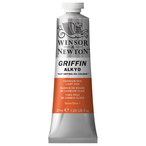 - Winsor & Newton Griffin Alkyd Fast Drying Oil Colour Paint, 37ml tube, Cadmium Red Light Hue