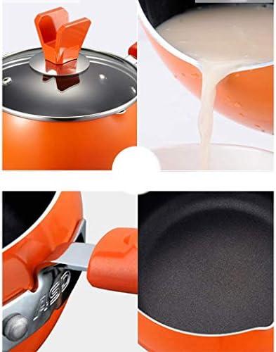 HLJ Lait d'orange Pot bébé supplément Alimentaire for bébé épais Mini Hot Pot au Lait Poêle au gaz des ménages for 16cm antiadhésifs