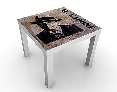 Mesa de diseño Al Capone 55x55x45cm, Tischfarbe:Schwarz;Größe:55 x ...