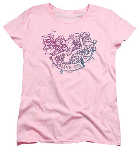 Womens: Popeye - Olive Oyl Tattoo Ladies T-Shirt