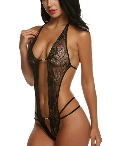 Avidlove Women Lace Teddy Linger...