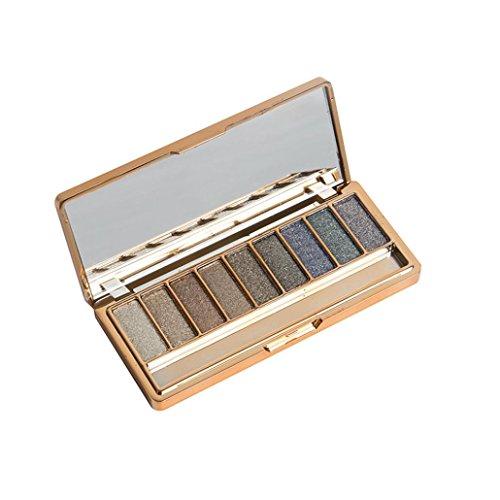 Mandy 9 Colors Shimmer Eyeshadow Eye Shadow Palette & Makeup Brush Set (D)