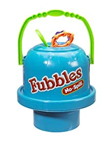 Little Kids Fubbles No Spill Big Bubble Bucket, Steel Blue