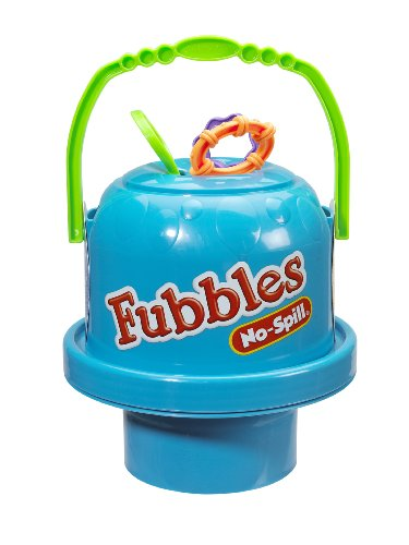 Bubble Bucket - Little Kids Fubbles No-Spill Big Bubble Bucket in Blue for Multi-Child Play, Made in the USA