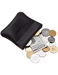 b29b09eb371 Leather Squeeze Coin Purse Pouch Change Holder For Men   Women
