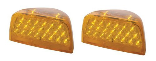 Pair of Amber LED Headlights Turn Signals Peterbilt Truck Cab
