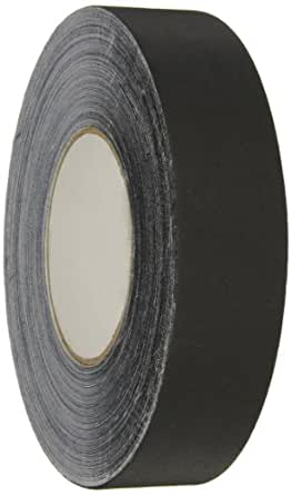 "Polyken - 1117620 510 Vinyl Coated Cloth Premium Gaffer's Tape, 11.5 mil Thick, 55 yds Length, 1-1/2"" Width, Black"