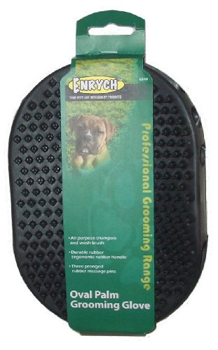 Enrych Rubberized Pet Grooming Glove, Green by Enrych