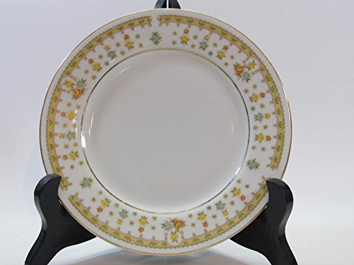 Fine China Japan Bread Plate - Garden Bouquet Fine China of Japan Bread & Butter Plate Size: 6 3/8 in D Multicolor Flowers Gold Trim