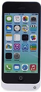 Vanda®-Funda Carcasa con Bateria iphone 5C-5 - 5s - Compatible con iOS7 - Power Pack Capacidad 4200 mAh - Powerbank Iphone 5s 5 Powercase
