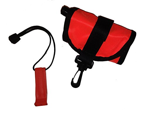 (101SNORKEL 4 Ft Scuba Diving Dive Signal/Marker Tube with Inflator, (Safety Sausage) Crafted in The USA)