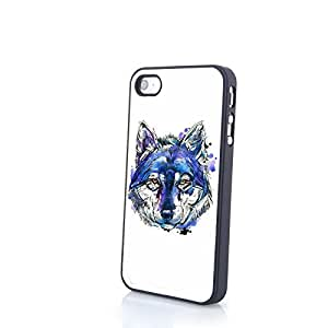 Generic PC Phone Cases fit for iPhone 4/4S Blue Tone Charming Soulful Beautiful Deep Eyes Matte Pattern