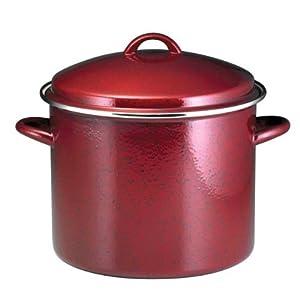 Paula Deen Signature Enamel on Steel 12-Quart Stockpot, Red Speckle by Paula Deen