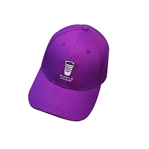 2018 Gorra De BéIsbol ZARLLE Taza Bordado Gorra De BéIsbol Hip Hop Plana Snapback Hat Hombres Mujer BéIsbol Gorra Casual Al Aire Libre Deportes Sombreros Nueva Gorra De BéIsbo morado