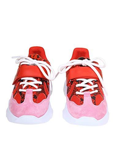 2641mds20611018 Mujer Msgm Zapatillas Rojo Gamuza qSZqCwxgn