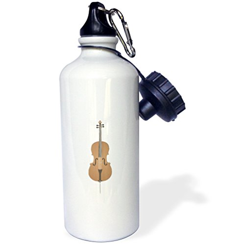 3dRose Dooni Designs Music Designs - Cello Music Instrument Musician Orchestra Design - 21 oz Sports Water Bottle (wb_150106_1) ()