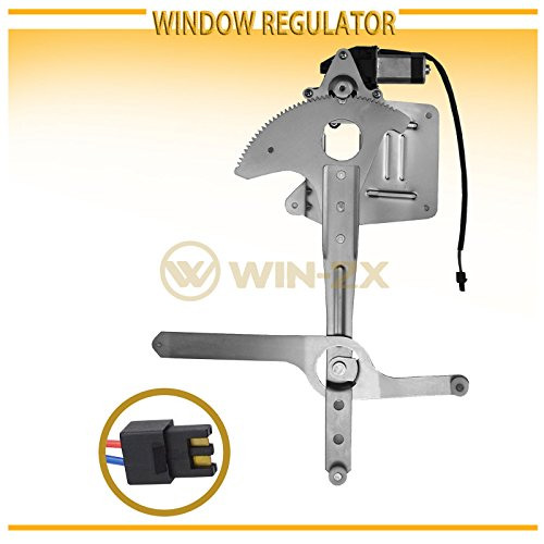 WIN-2X New 1pc Front Passenger (Right) Side Power Window Regulator & Motor Assembly Fit 95-05 Chevy Blazer/GMC Jimmy 94-04 S10/Sonoma 96-00 Isuzu Hombre 96-01 Oldsmobile Bravada ()
