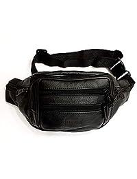 Le Sac Multi Pocket Leather Fanny Pack Waist Bag 7 pockets