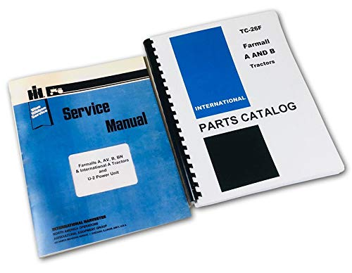 Farmall A Av B Tractor Service Repair Parts Manual Catalog Set International Ih