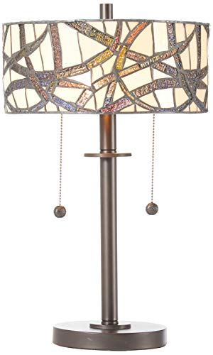 Dale Tiffany TT12412 Willow Cottage Table Lamp, 12 x 12 x 19.5 , Dark Bronze