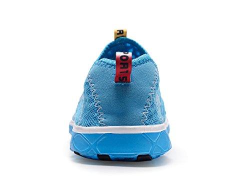 Lightweight Drying Blue Walking Sneakers Water Aqua Mesh XMeden Women's Slip Quick On Shoes zTwHx