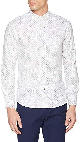 Celio Naoxprint2 Camisa, Blanco (Blanc Blanc), 39 (Talla del ...