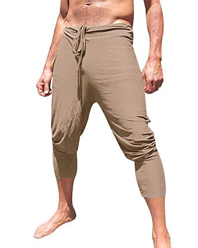 Pantaloni Traspirante Sottile Estate Minetom Shorts Cachi Corti Del Lunghezza Loose Pantaloncini Bermuda Uomo Ginocchio Spiaggia WwPqqXUY