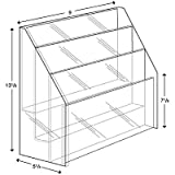 Brochure Holder -Clear Acrylic, Three Tier, Three Pocket, Upright, Free Standing Design Holds 8.5 X 11 Full Sheet Literature - Sold in Lots of 5