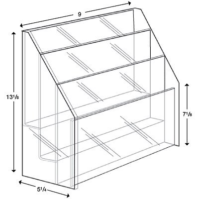 display case for brochures - 7