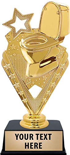 Crown Awards Toilet Bowl Trophies with Custom Engraving, 6
