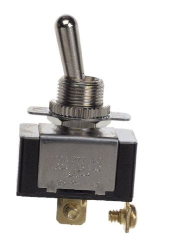 Gardner Bender GSW-110 Electrical Toggle Switch, SPST, ON-OFF,  20 A/125V AC,  O Ring/Screw Terminal