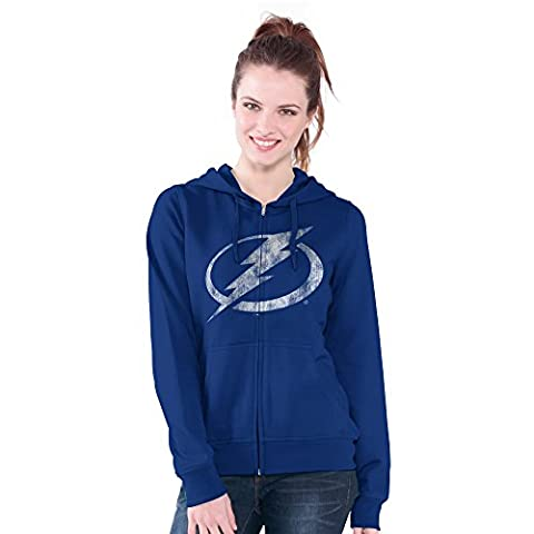NHL Tampa Bay Lightning Women's Wildcat Full Zip Hoodie, Medium, Royal - Full Zip Hockey Hoody